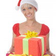 Stock Photo: Beautiful christmas woman.