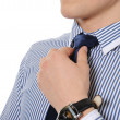 Royalty-Free Stock Photo: Picture of a business man adjusting his tie
