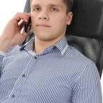Businessman talking on the phone — Stock Photo #4313967