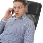Businessman talking on the phone — Stock Photo #4313976