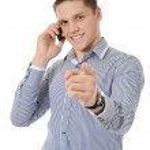 Businessman talking on the phone — Stock Photo #4313986