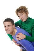 Portrait of a joyful young couple — Stock Photo
