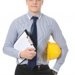 Man with construction helmet — Stock Photo