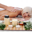 Massage in the spa salon — Stock Photo