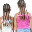 Two girl with pigtails. — Stock Photo #4433650