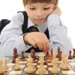 Stock Photo: Schoolboy playing chess