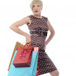 Woman with a shopping bag. — Stock Photo