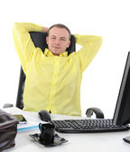 Businessman in office. — Stock Photo