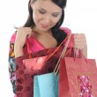 Beautiful girl with shopping bags — Stock fotografie