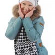Woman in winter style — Foto Stock