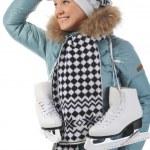 Girl with skates — Stock Photo