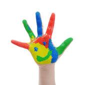 Niño pintado a mano — Foto de Stock