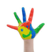 Hand Painted Child — Stock Photo