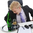 Drunk businessman - Stock Photo