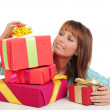 Woman with a gift — Stock Photo #4813238