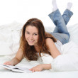 Woman in the bed — Stock Photo #4993973