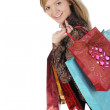 Stock Photo: Pretty woman with shopping bags