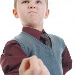 Little bully threatens fist — Stock Photo #5026187
