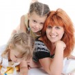 Mother with her daughters. - Stock Photo