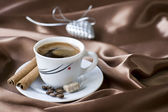 Coffee with brown sugar — Stock Photo