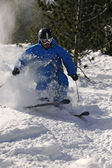 Freeride Skier in powder snow. — Stock Photo