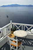 Santorini, view from balcony. — Stock Photo