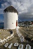 Windmill Mykonos Greece. — Stock Photo