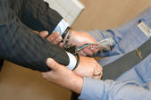 It is detained at bribe reception — Stockfoto