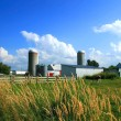 Working farm in rural Quebec - Stock Photo