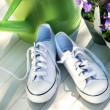 White tennis running shoes - Foto de Stock