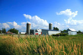 Working farm in rural Quebec — Stock Photo