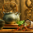 Asian herb tea - Stock Photo