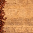 Stock Photo: Roasted coffee beans on rustic wood