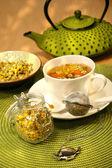 Closeup of chamomile tea — Stock Photo