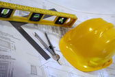 Architectural plans for remodeling — Stock Photo