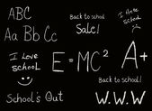 "Selection of Back to school ""chalkboard like"" phrases — Stock Photo"