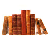 Old books against a white background — Stock Photo