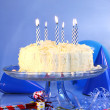 Blue birthday celebrations — Stock Photo #3277850