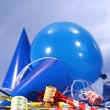 Blue party decorations — Stock Photo