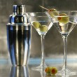 Martinis with shaker — Stock Photo