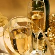 Golden champagne - Stock Photo