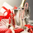 Photo: Christmas champagne