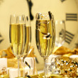 Champagne glasses ready to bring in the New Year — Stock Photo #3278114