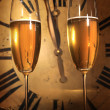 Champagne ready to bring in the New Year — Stock Photo