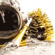 Waiting for the New Year with clock — Stockfoto