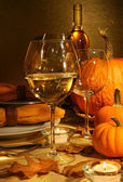 Wine at Thanksgiving — Stockfoto