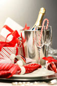 Christmas champagne — Photo