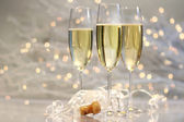 Three glasses of champagne — Stock Photo