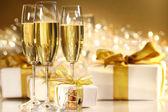 Glasses of champagne — Stockfoto