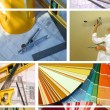 Home improvement collage - 图库照片